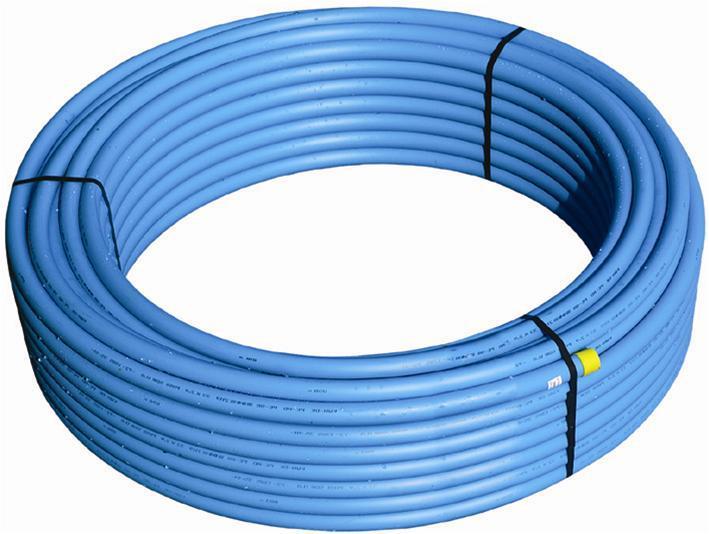 Oprindeligt Wavin pem-rør 32mm pn10 - rulle af 100 meter. - VVS nr.: 070612034 KY07