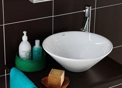 håndvask ovenpå bordplade Hafa Misaki Rise håndvask   VVS nr 1273217   VVS Shoppen.dk håndvask ovenpå bordplade