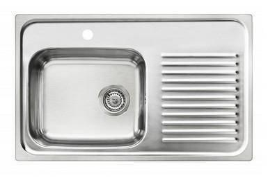 Fantastisk Intra City CI80SL køkkenvask i rustfrit stål kumme til venstre TO21