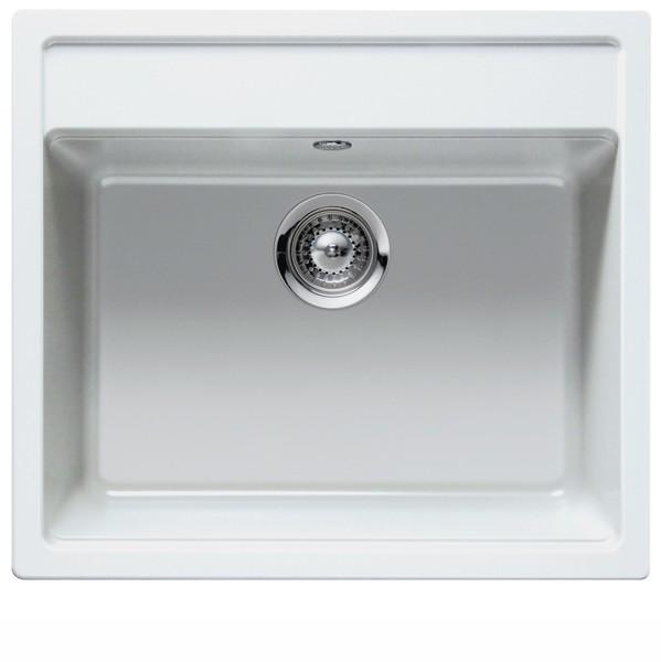 hvid køkkenvask Intra Nemo køkkenvask i hvid granit   VVS nr.: 682627100 hvid køkkenvask