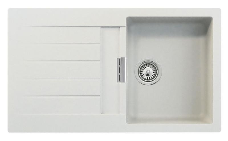 køkkenvask tilbud Intra Primus D 100 køkkenvask   Hvid komposit   VVS nr.: 682629100 køkkenvask tilbud