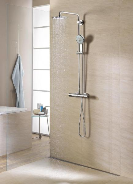 grohe rainshower 210 brusesystem m termostat 722286874. Black Bedroom Furniture Sets. Home Design Ideas
