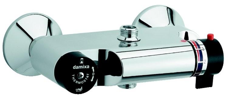 blandingsbatteri bruser og vandhane Damixa badetermostat TMC 27650   Krom/sort   VVS nr.: 727811604 blandingsbatteri bruser og vandhane