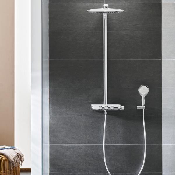 Grohe Rainshower SmartControl 360 DUO brusesystem m/ termostat - Krom